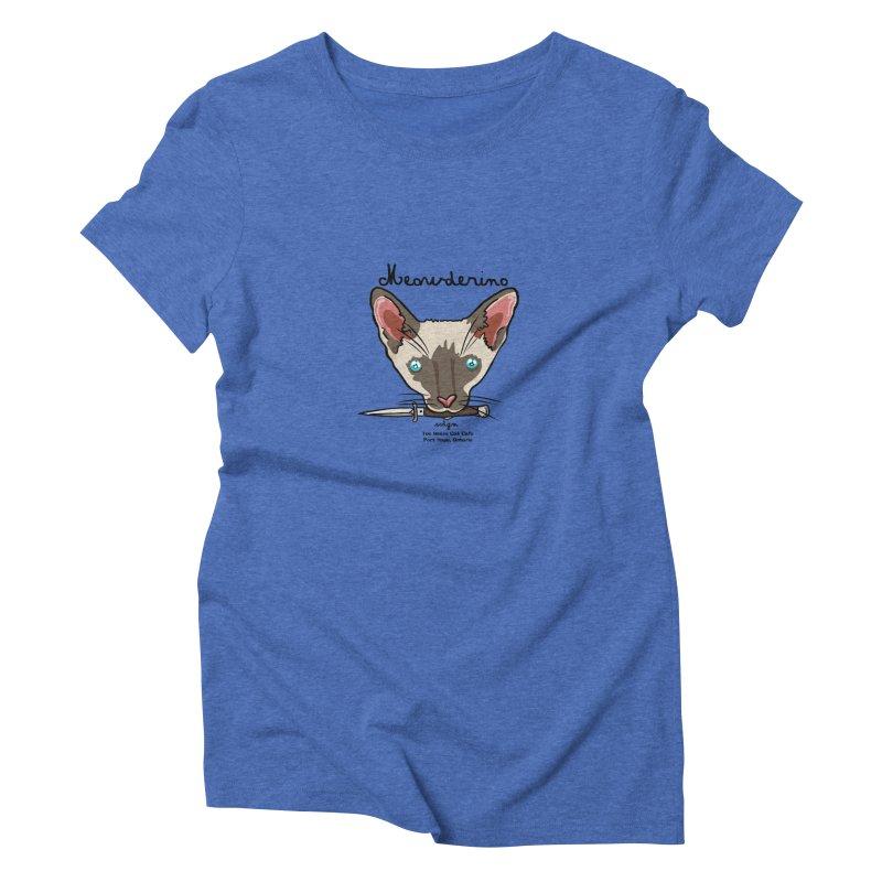Meowderino - MFM Fan Women's Triblend T-Shirt by Toe Beans Cat Cafe Online Shop