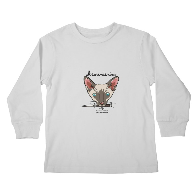 Meowderino - MFM Fan Kids Longsleeve T-Shirt by Toe Beans Cat Cafe Online Shop