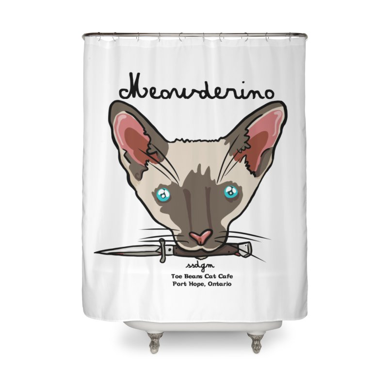 Meowderino - MFM Fan Home Shower Curtain by Toe Beans Cat Cafe Online Shop