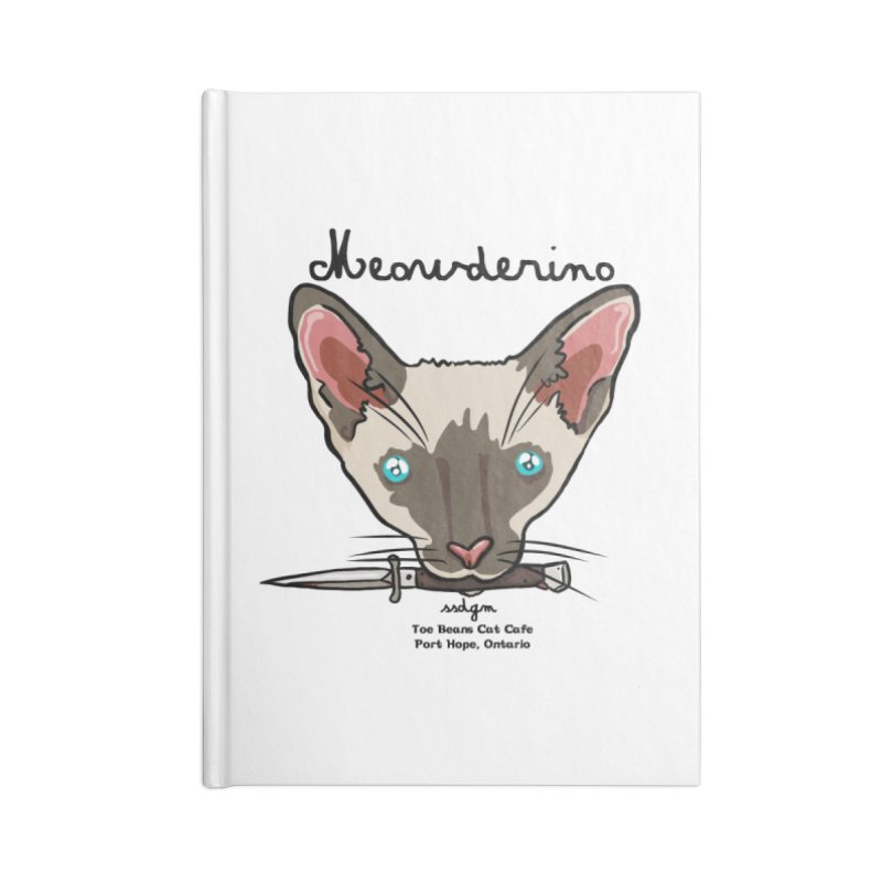 Meowderino - MFM Fan Accessories Lined Journal Notebook by Toe Beans Cat Cafe Online Shop