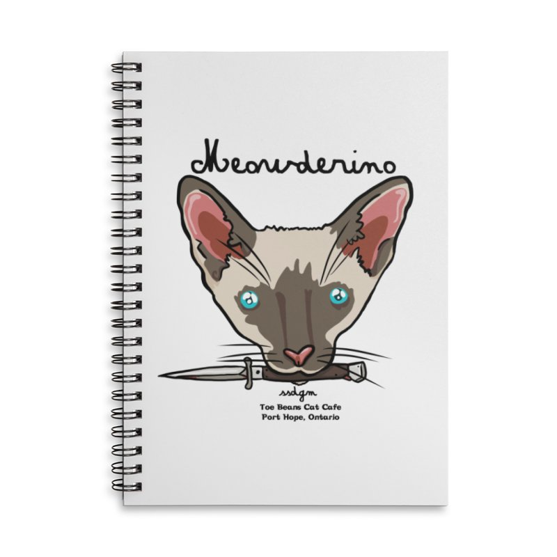 Meowderino - MFM Fan Accessories Lined Spiral Notebook by Toe Beans Cat Cafe Online Shop