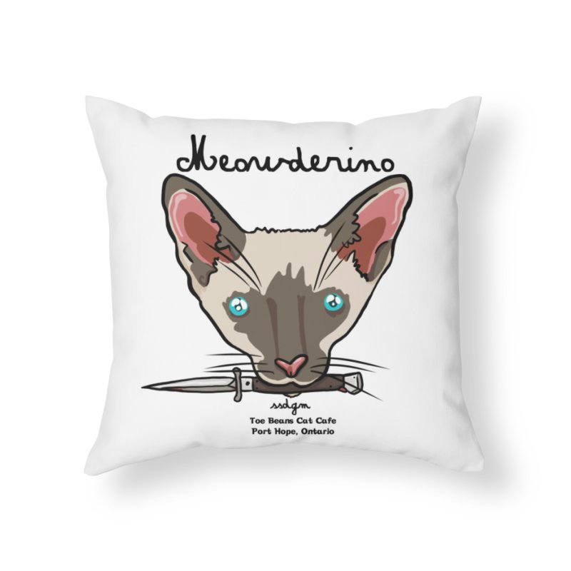 Meowderino - MFM Fan Home Throw Pillow by Toe Beans Cat Cafe Online Shop