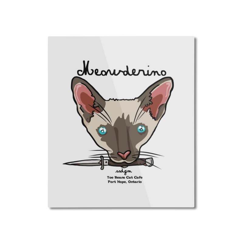 Meowderino - MFM Fan Home Mounted Aluminum Print by Toe Beans Cat Cafe Online Shop