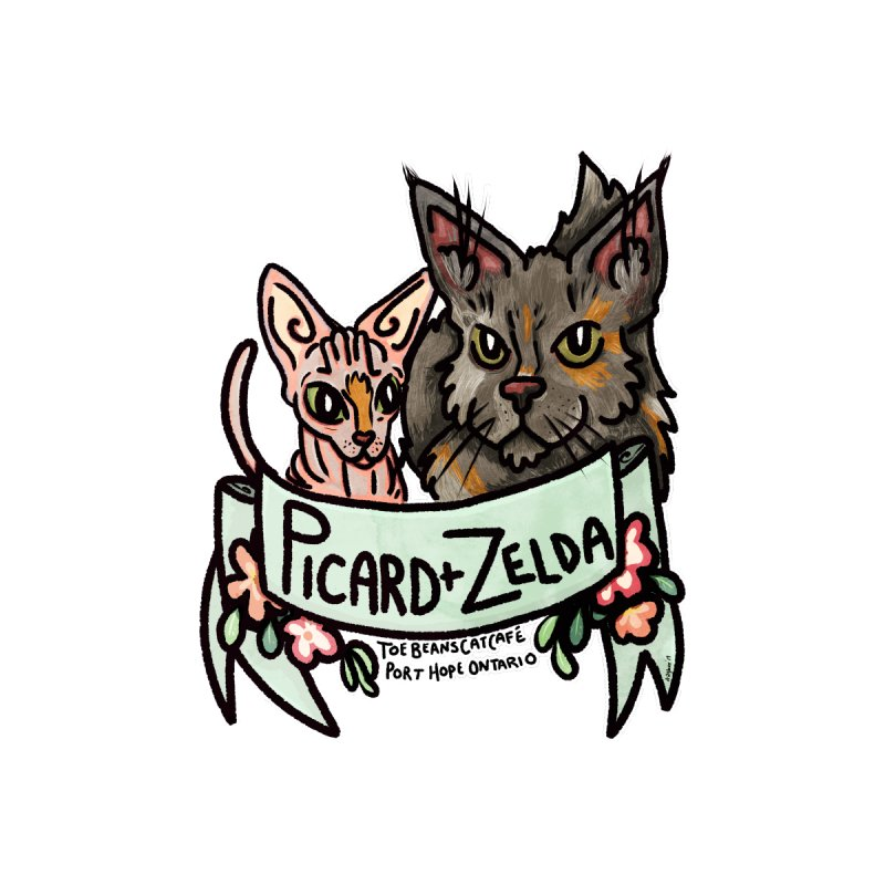 Picard & Zelda Women's T-Shirt by Toe Beans Cat Cafe Online Shop