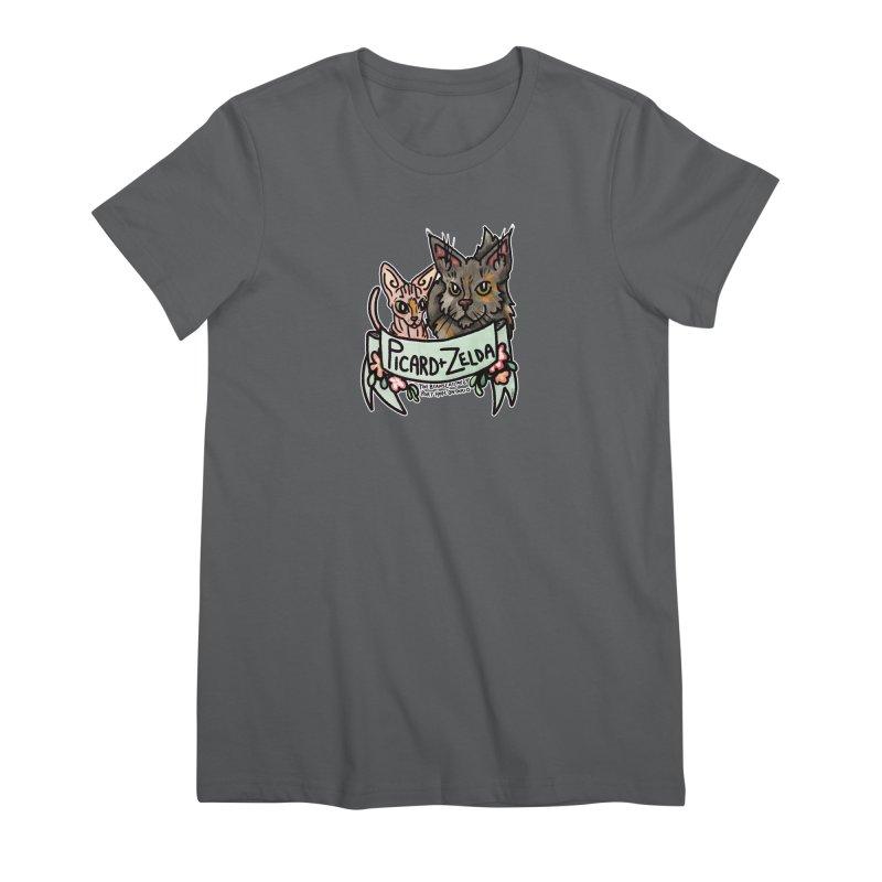 Picard & Zelda Women's T-Shirt by Toe Beans Cat Cafe Online Shop