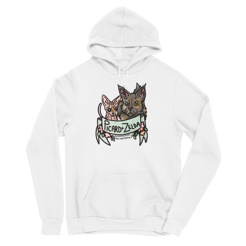 Picard & Zelda Men's Pullover Hoody by Toe Beans Cat Cafe Online Shop