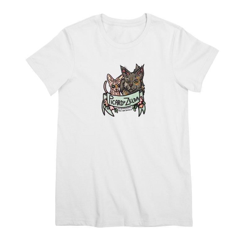 Picard & Zelda Women's Premium T-Shirt by Toe Beans Cat Cafe Online Shop