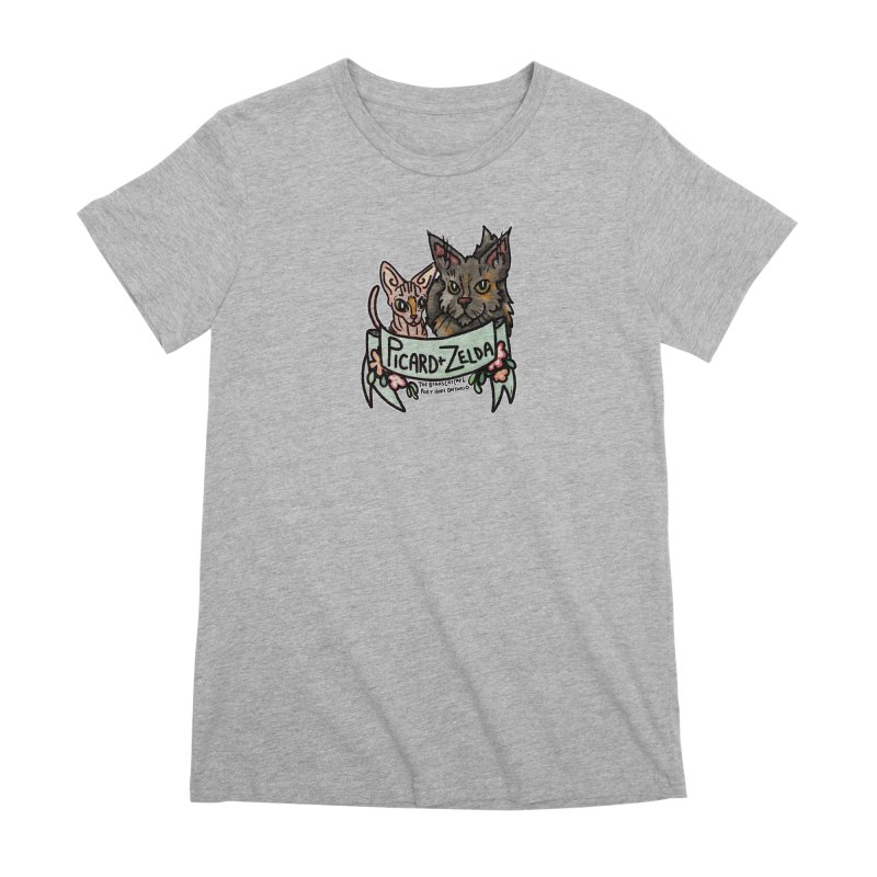 Picard & Zelda Women's Premium T-Shirt by Toe Beans Cat Cafe Online Shop