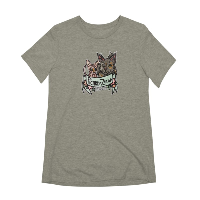 Picard & Zelda Women's Extra Soft T-Shirt by Toe Beans Cat Cafe Online Shop