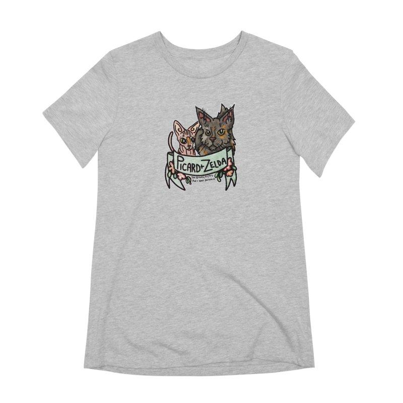 Picard & Zelda Women's Extra Soft T-Shirt by Toe Beans Cat Cafe Online Shop