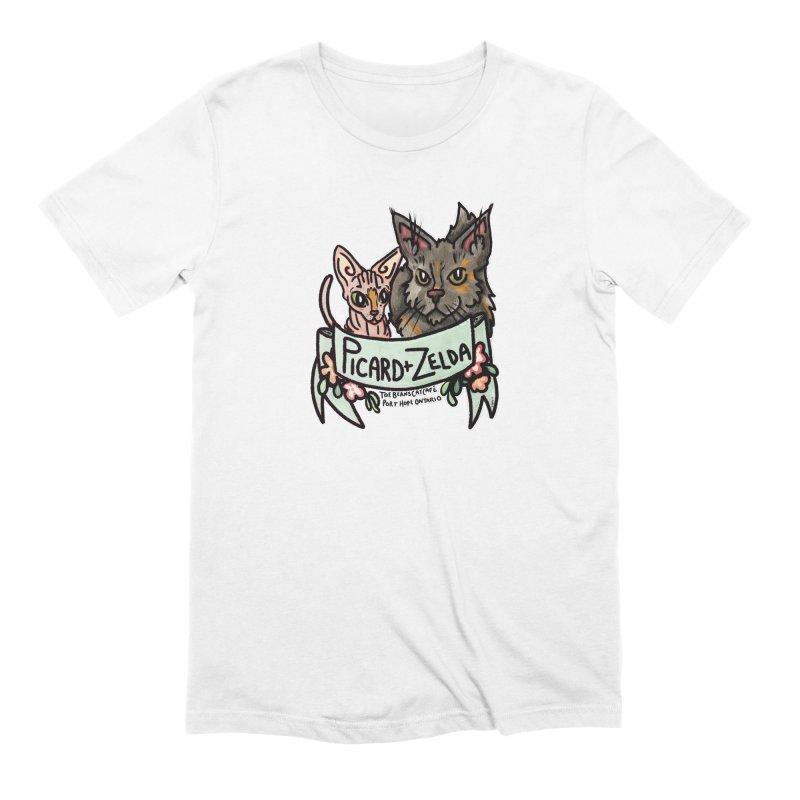 Picard & Zelda Men's Extra Soft T-Shirt by Toe Beans Cat Cafe Online Shop