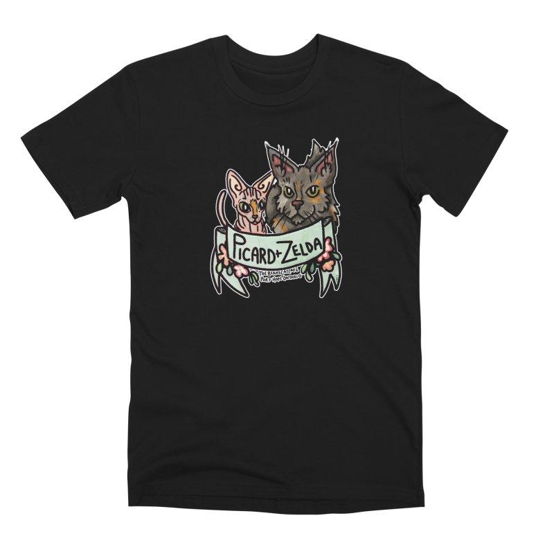 Picard & Zelda Men's Premium T-Shirt by Toe Beans Cat Cafe Online Shop