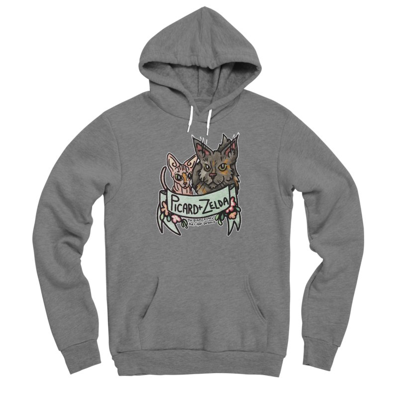 Picard & Zelda Men's Sponge Fleece Pullover Hoody by Toe Beans Cat Cafe Online Shop