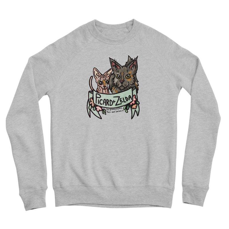 Picard & Zelda Men's Sponge Fleece Sweatshirt by Toe Beans Cat Cafe Online Shop