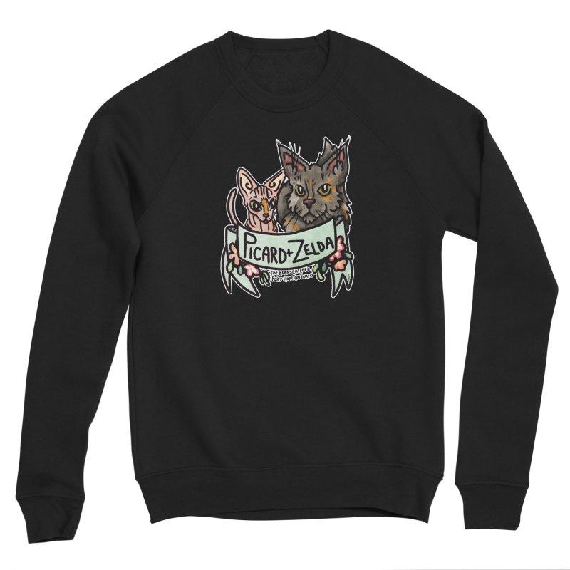 Picard & Zelda Women's Sponge Fleece Sweatshirt by Toe Beans Cat Cafe Online Shop