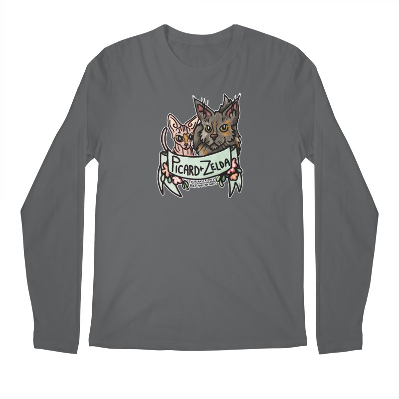Picard & Zelda Men's Longsleeve T-Shirt by Toe Beans Cat Cafe Online Shop