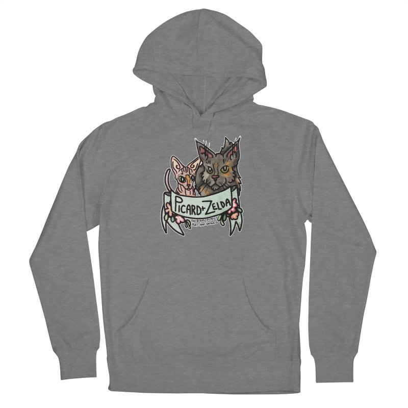 Picard & Zelda Women's Pullover Hoody by Toe Beans Cat Cafe Online Shop