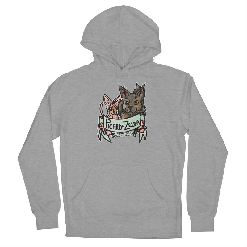 Picard & Zelda Women's French Terry Pullover Hoody by Toe Beans Cat Cafe Online Shop