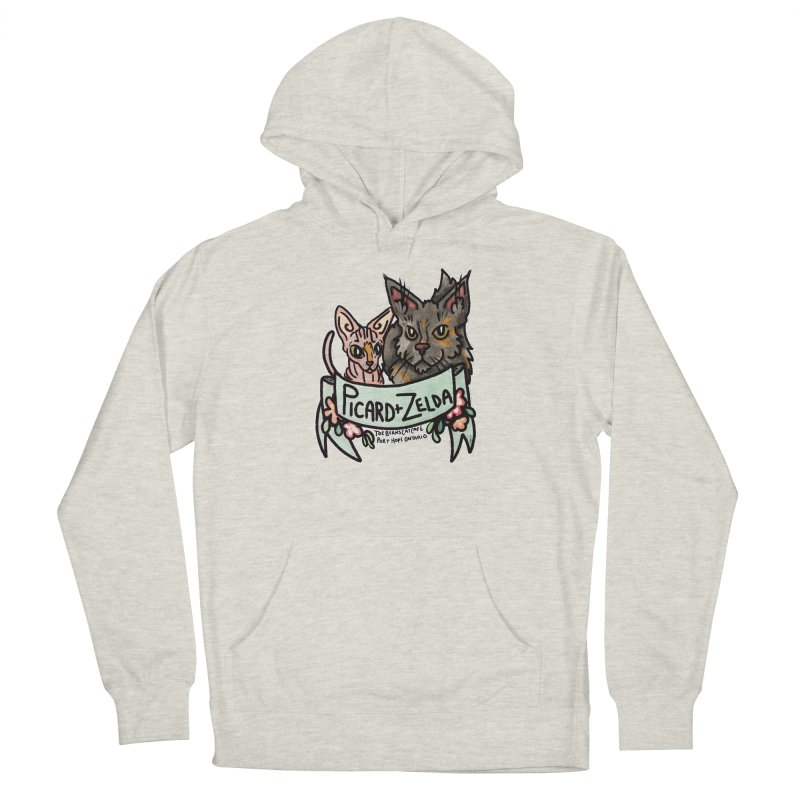 Picard & Zelda Men's French Terry Pullover Hoody by Toe Beans Cat Cafe Online Shop