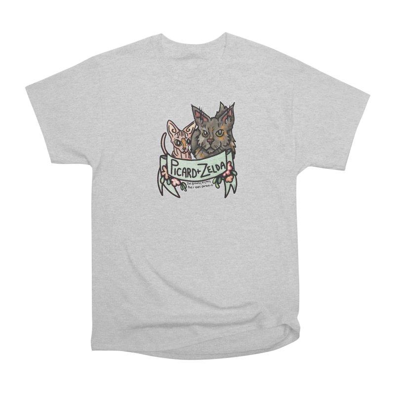 Picard & Zelda Women's Heavyweight Unisex T-Shirt by Toe Beans Cat Cafe Online Shop