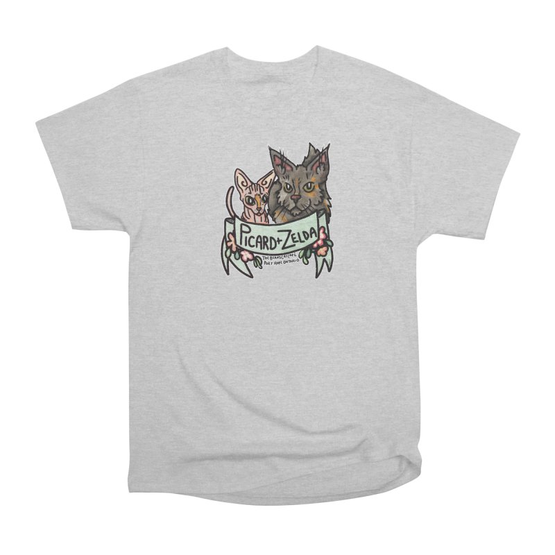 Picard & Zelda Men's Heavyweight T-Shirt by Toe Beans Cat Cafe Online Shop