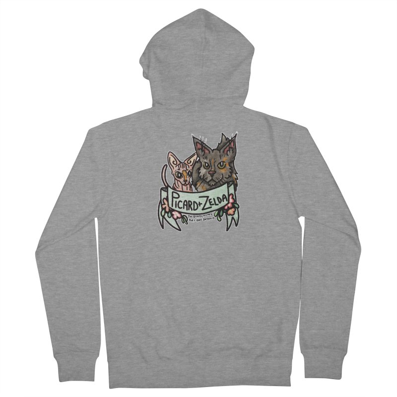 Picard & Zelda Women's French Terry Zip-Up Hoody by Toe Beans Cat Cafe Online Shop
