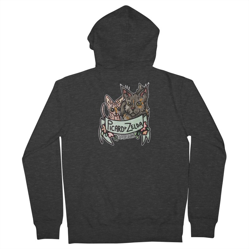 Picard & Zelda Men's French Terry Zip-Up Hoody by Toe Beans Cat Cafe Online Shop