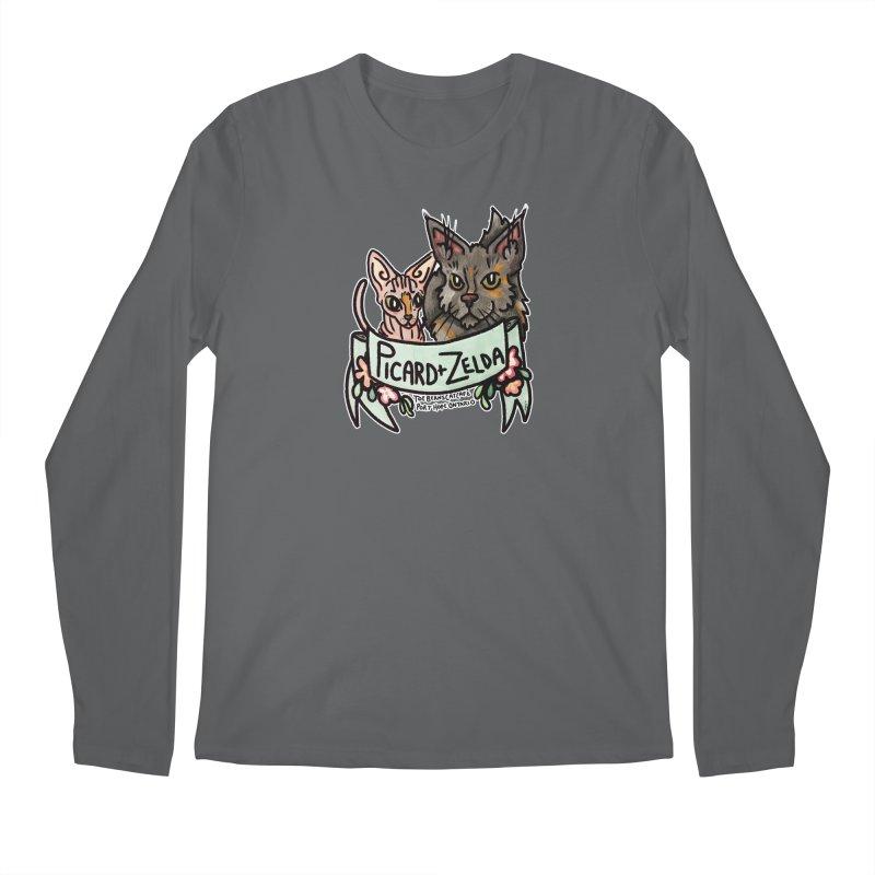 Picard & Zelda Men's Regular Longsleeve T-Shirt by Toe Beans Cat Cafe Online Shop