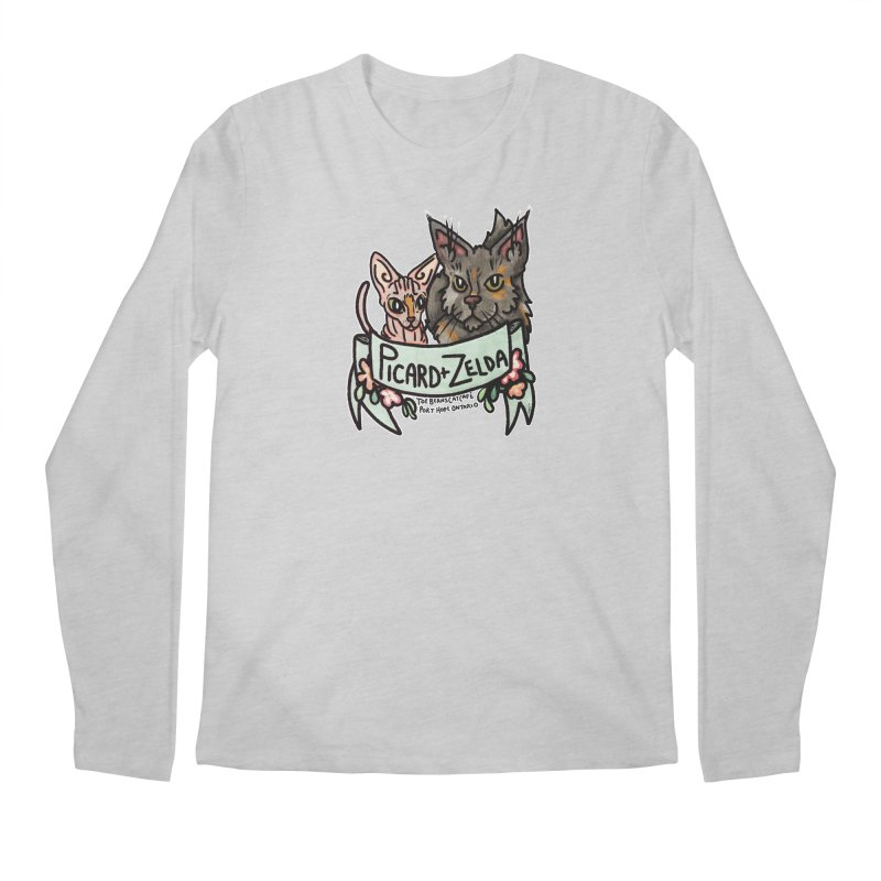 Picard & Zelda Men's Regular Longsleeve T-Shirt by Toe Beans Cat Cafe Online Shop