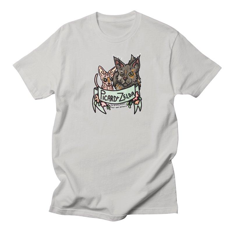 Picard & Zelda Men's Regular T-Shirt by Toe Beans Cat Cafe Online Shop