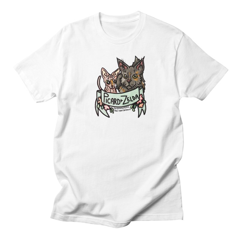 Picard & Zelda Women's Regular Unisex T-Shirt by Toe Beans Cat Cafe Online Shop