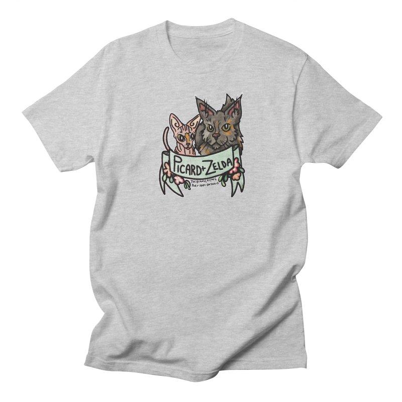 Picard & Zelda Women's Regular Unisex T-Shirt by Toe Beans Cat Cafe Online Shop