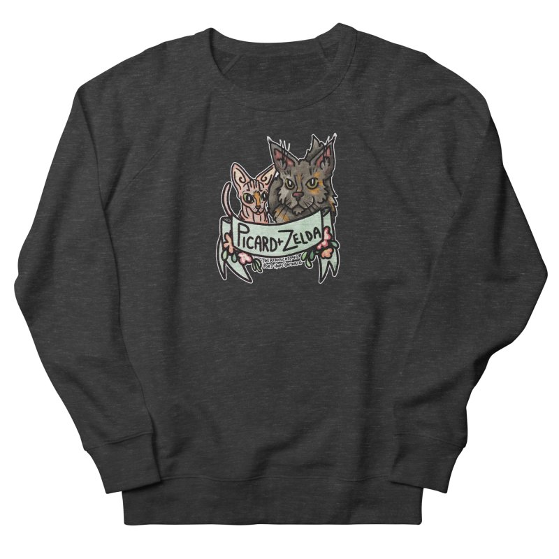 Picard & Zelda Women's French Terry Sweatshirt by Toe Beans Cat Cafe Online Shop
