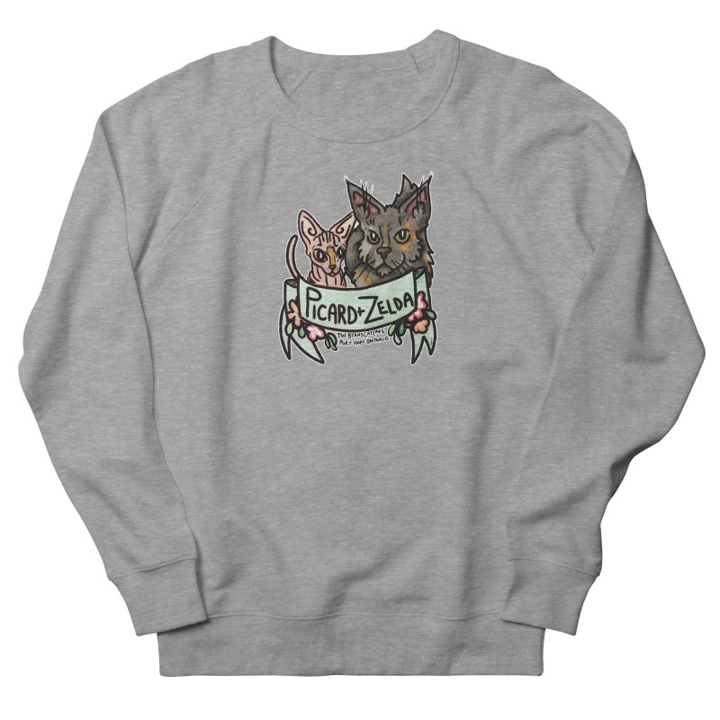 Picard & Zelda Women's French Terry Sweatshirt by Toe Beans Cat Cafe Online Shop