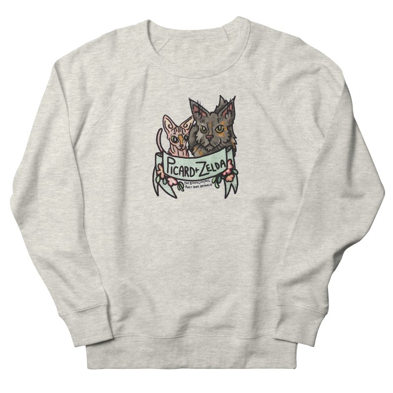 Picard & Zelda Men's French Terry Sweatshirt by Toe Beans Cat Cafe Online Shop