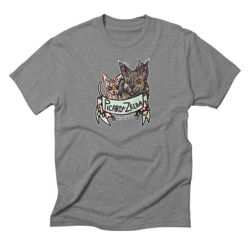 Picard & Zelda Men's Triblend T-Shirt by Toe Beans Cat Cafe Online Shop