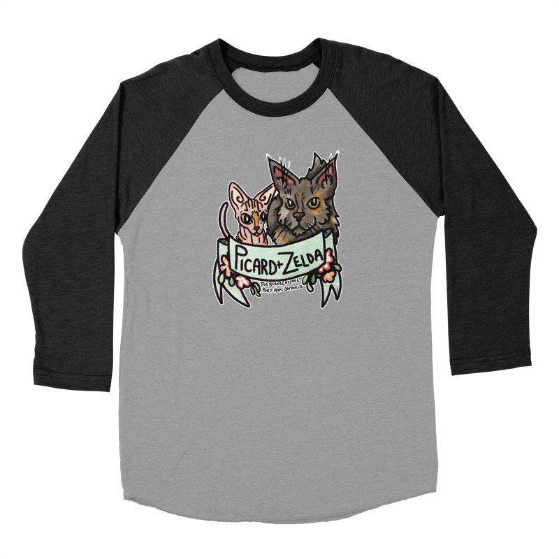 Picard & Zelda Men's Baseball Triblend Longsleeve T-Shirt by Toe Beans Cat Cafe Online Shop