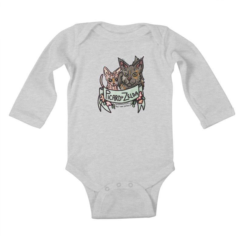 Picard & Zelda Kids Baby Longsleeve Bodysuit by Toe Beans Cat Cafe Online Shop
