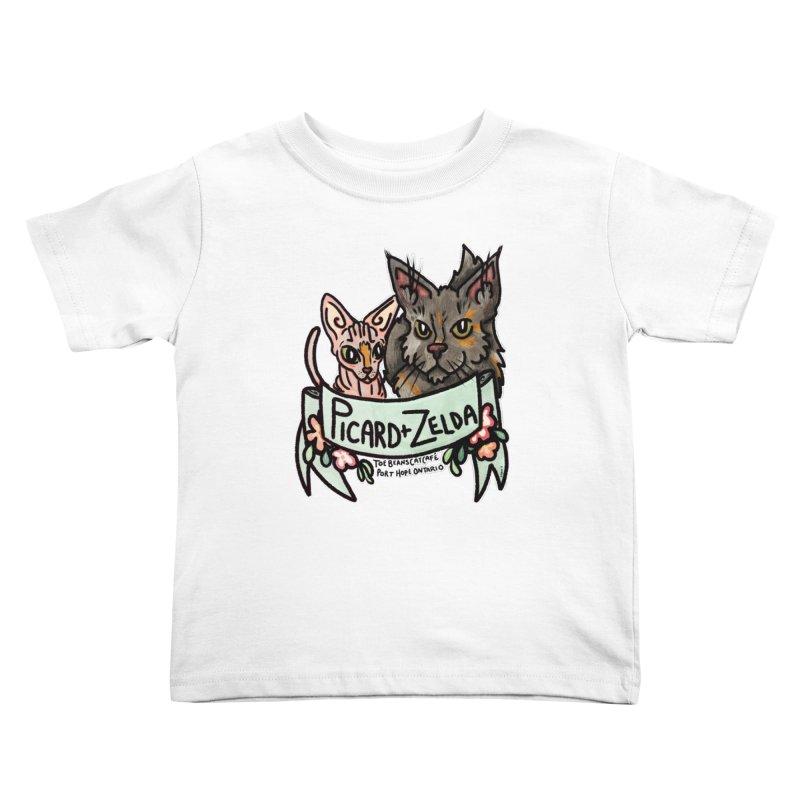 Picard & Zelda Kids Toddler T-Shirt by Toe Beans Cat Cafe Online Shop
