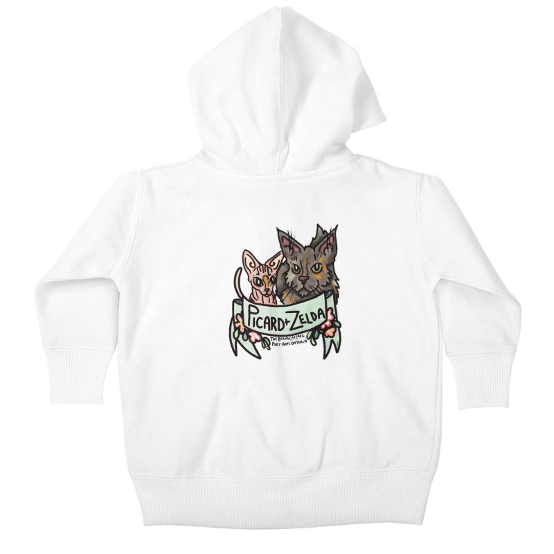Picard & Zelda Kids Baby Zip-Up Hoody by Toe Beans Cat Cafe Online Shop