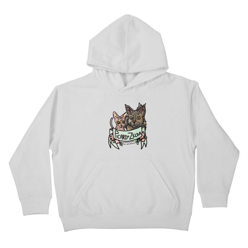 Picard & Zelda Kids Pullover Hoody by Toe Beans Cat Cafe Online Shop