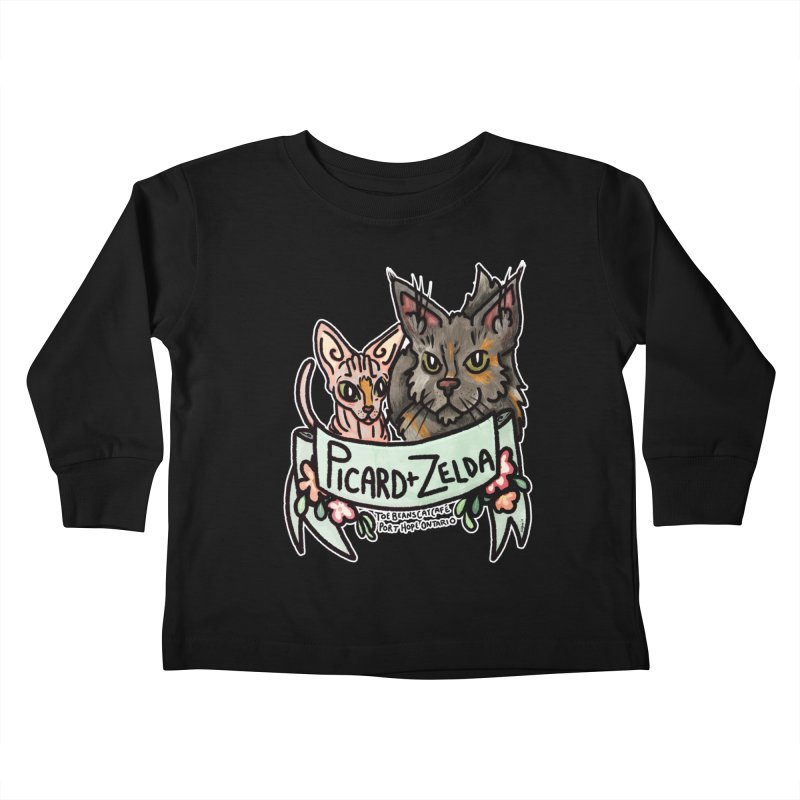 Picard & Zelda Kids Toddler Longsleeve T-Shirt by Toe Beans Cat Cafe Online Shop