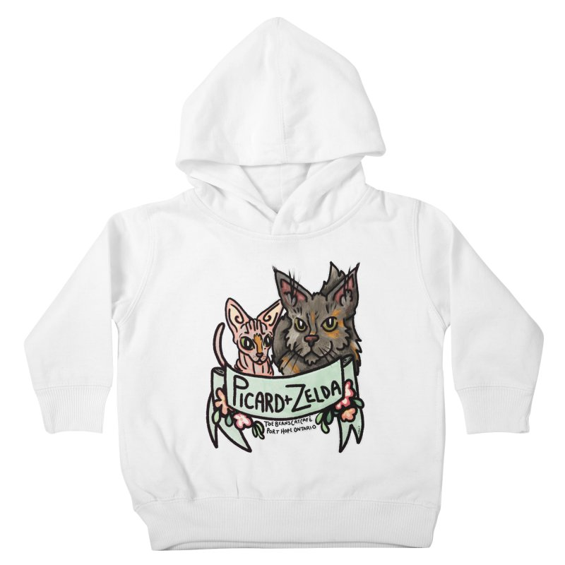 Picard & Zelda Kids Toddler Pullover Hoody by Toe Beans Cat Cafe Online Shop