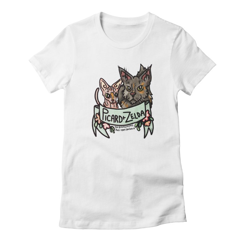 Picard & Zelda Women's Fitted T-Shirt by Toe Beans Cat Cafe Online Shop