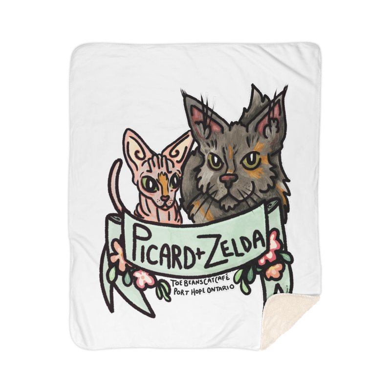 Picard & Zelda Home Sherpa Blanket Blanket by Toe Beans Cat Cafe Online Shop