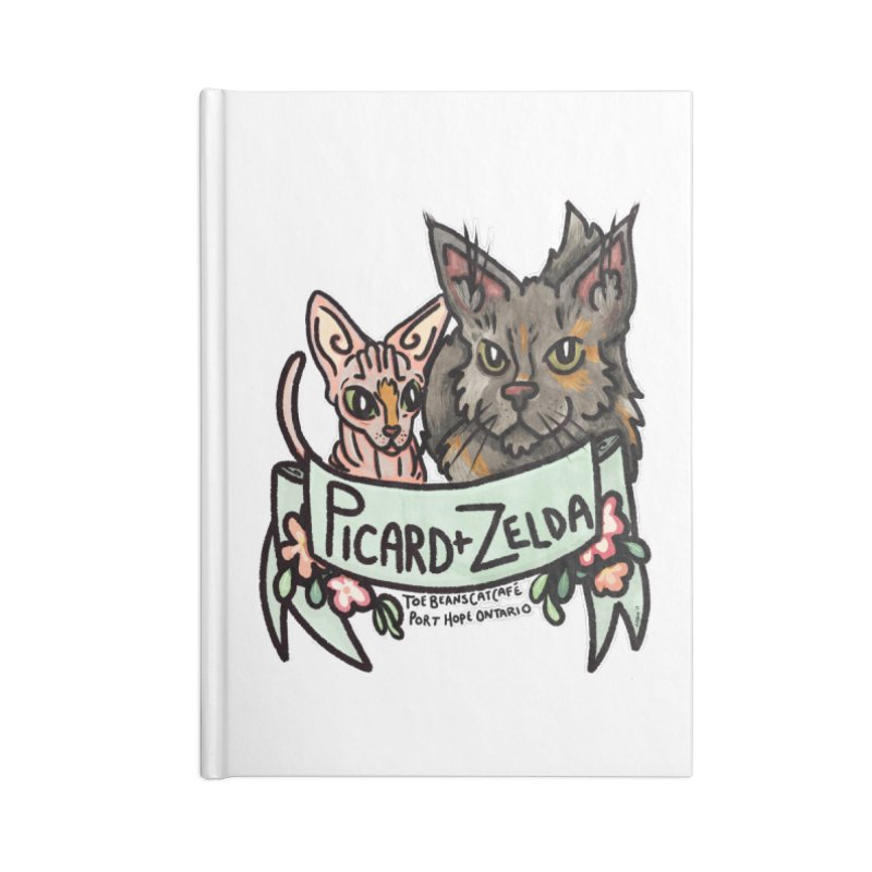 Picard & Zelda Accessories Blank Journal Notebook by Toe Beans Cat Cafe Online Shop