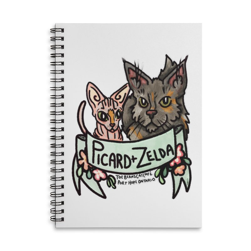 Picard & Zelda Accessories Lined Spiral Notebook by Toe Beans Cat Cafe Online Shop