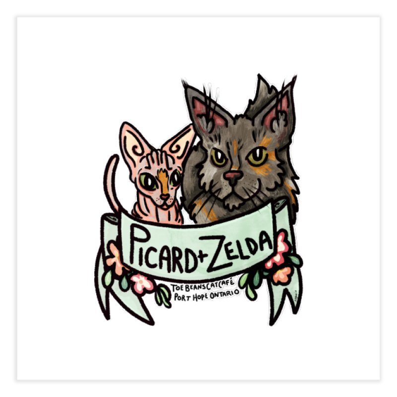 Picard & Zelda Home Fine Art Print by Toe Beans Cat Cafe Online Shop