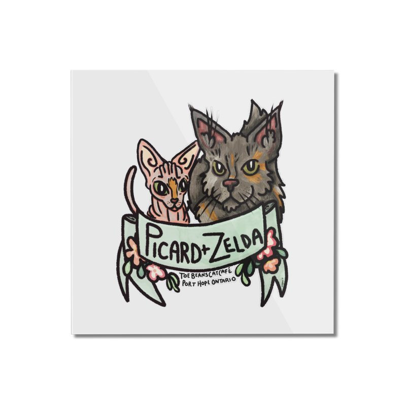 Picard & Zelda Home Mounted Acrylic Print by Toe Beans Cat Cafe Online Shop