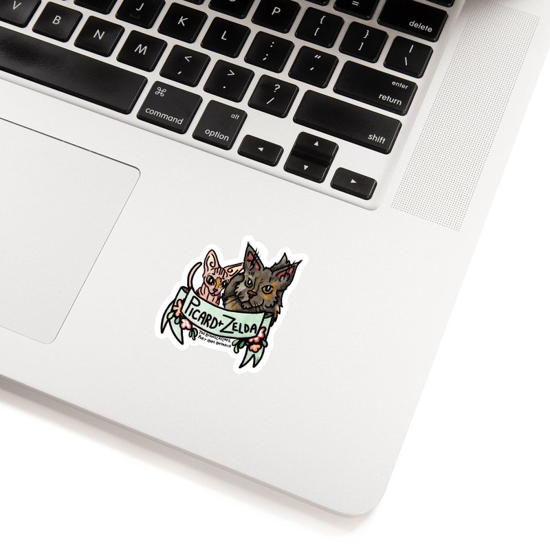 Picard & Zelda Accessories Sticker by Toe Beans Cat Cafe Online Shop